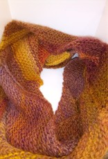 Maggi Rhudy Maggi Zig Zag Scarf  50% Wool 50% Acrylic Orange/Brown