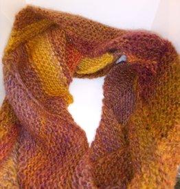 Maggi Rhudy Maggi Zig Zag Scarf  50% Wool 50% Acrylic Orange/Brown