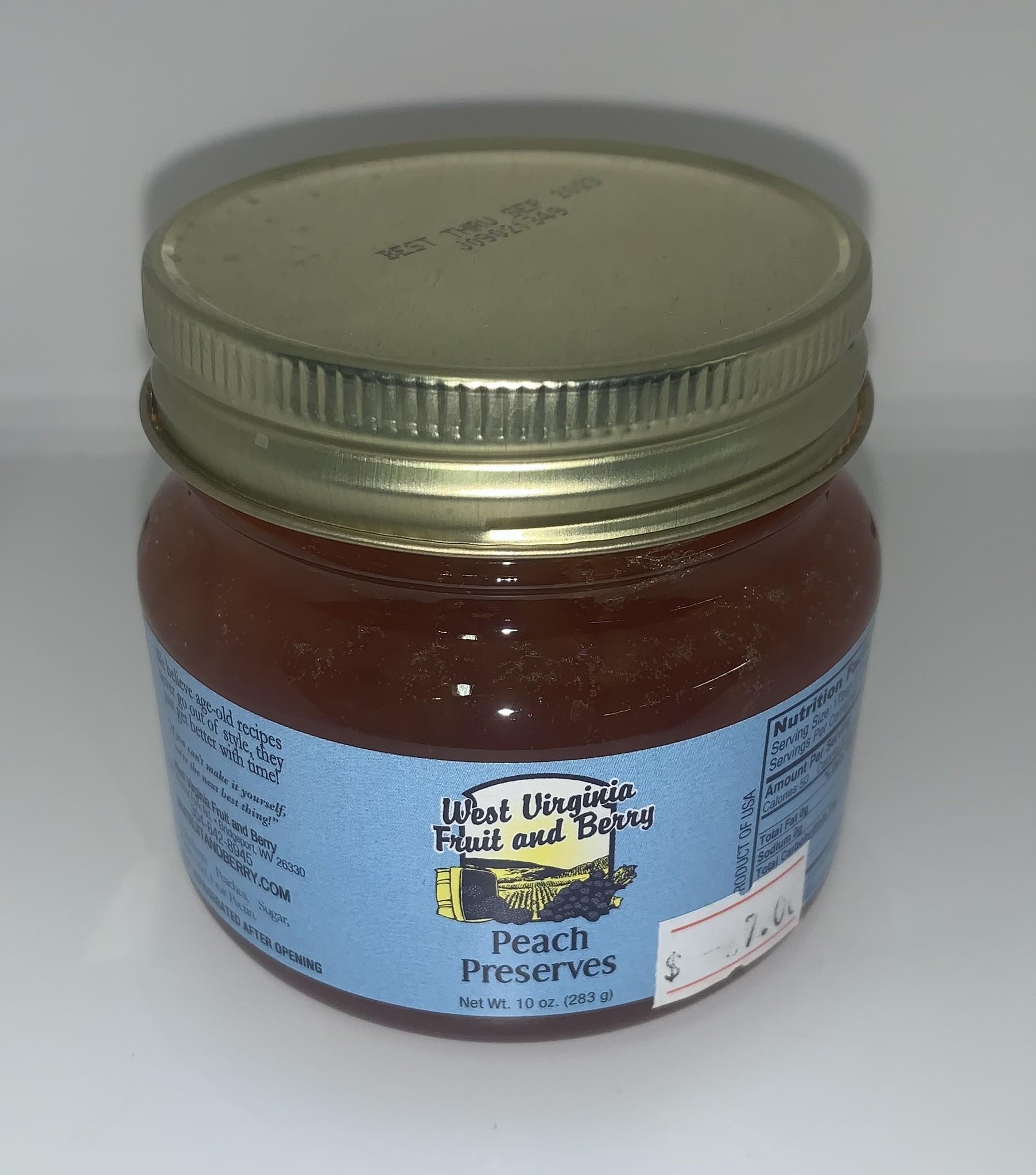 West Virginia Fruit and Berry WVF&B 10 oz. Peach Preserves