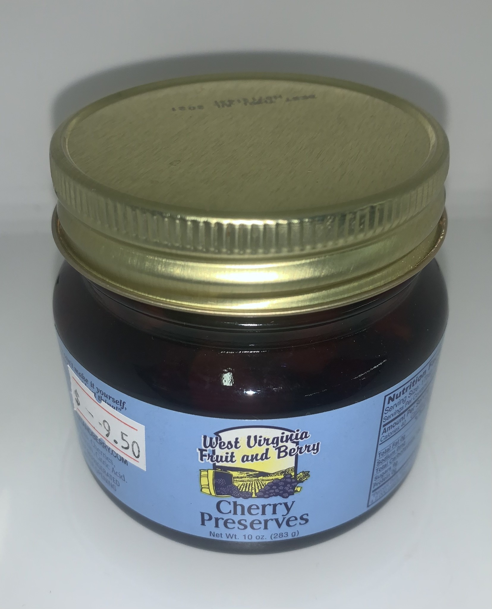 West Virginia Fruit and Berry WVF&B 10 oz. Cherry Preserves