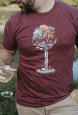 Loving WV WV Wine Glass Tee Lg