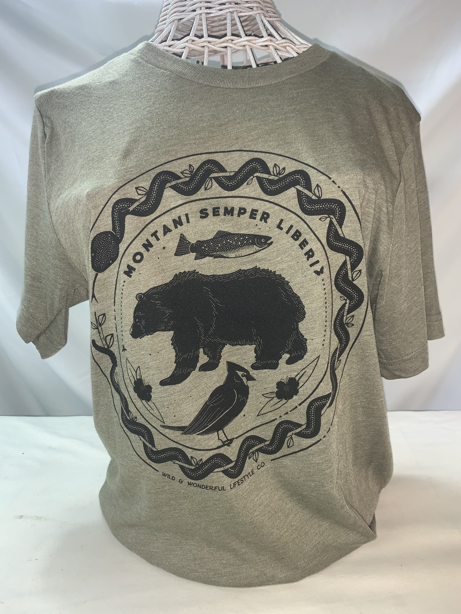 Wild & Wonderful Lifestyle Company WV Mountain Semper Bear Tee Lg