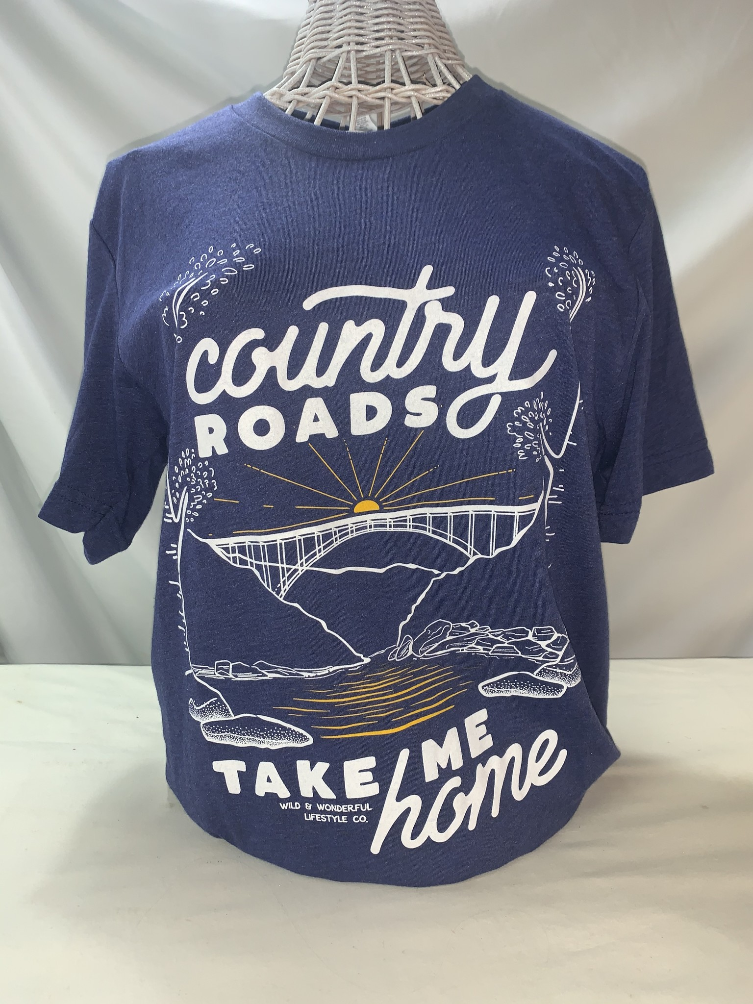 Wild & Wonderful Lifestyle Company WV Country Roads Tee Lg
