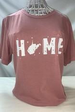 Wild & Wonderful Lifestyle Company Pink Home Tee Lg