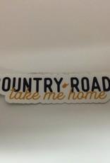 Wild & Wonderful Lifestyle Company Country Roads Sticker