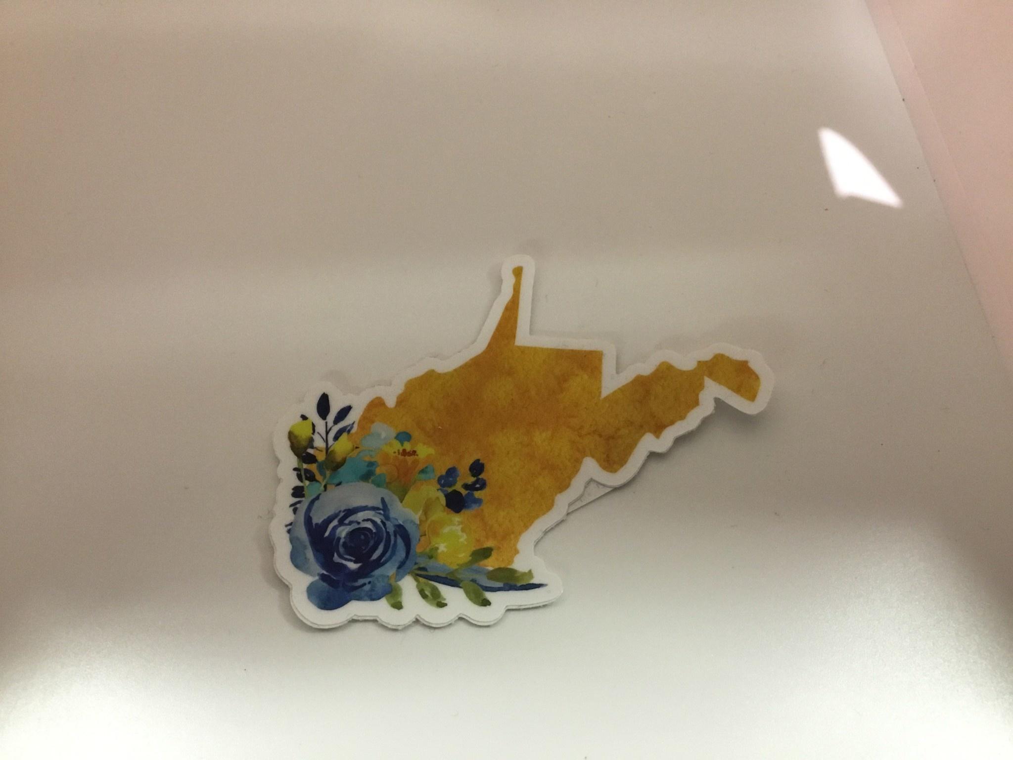 Wild & Wonderful Lifestyle Company WV Flower Sticker