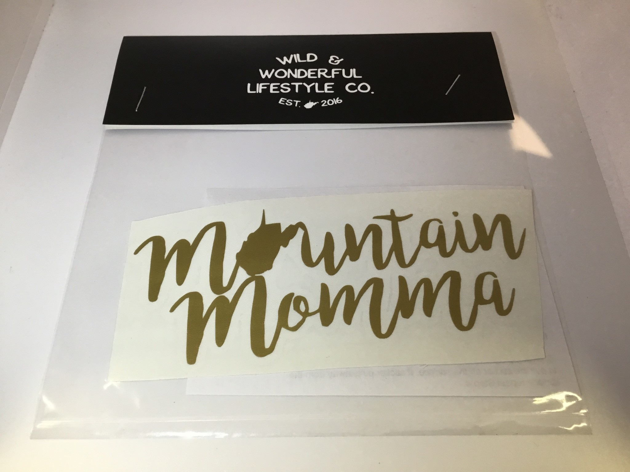 Wild & Wonderful Lifestyle Company WV Mountain Mama Decal
