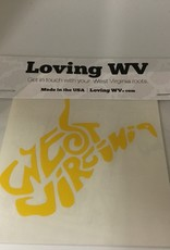 Loving WV WV Doodle Yellow Decal