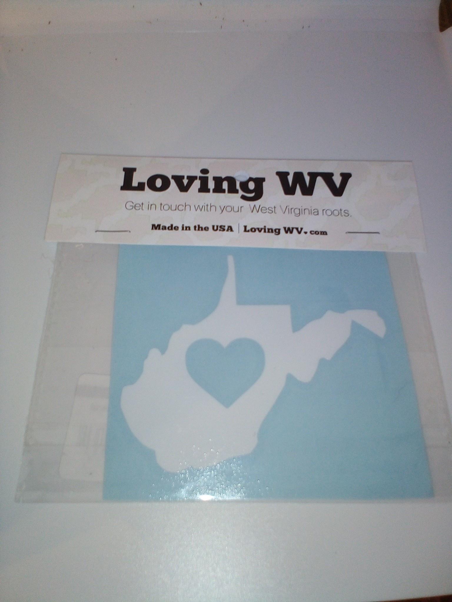 Loving WV WV ❤ White Decal