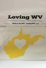Loving WV WV ❤ Yellow Decal