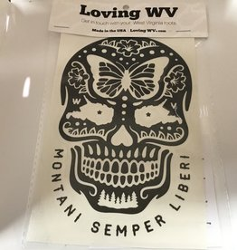 Loving WV WV Sugar Skull Decal