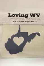 Loving WV WV ❤ Blue Decal