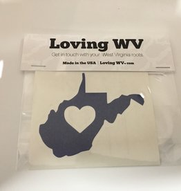 Loving WV WV ❤ Blue Decal