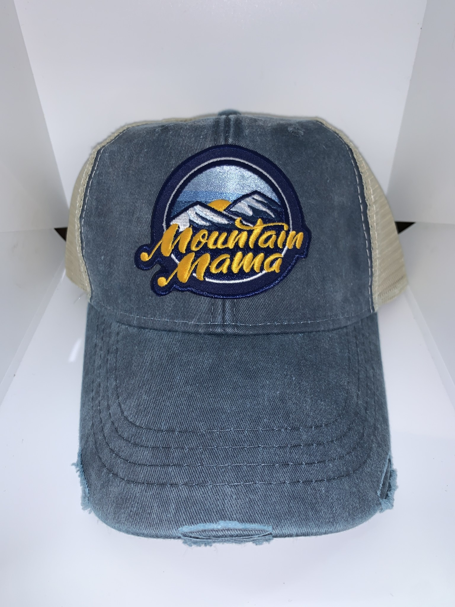 Loving WV Mountain Mama Patch Trucker Hat