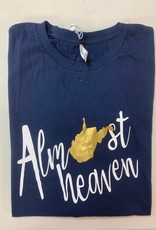Positive-a-tees Positive-a-tees Almost Heaven LS Navy Lg