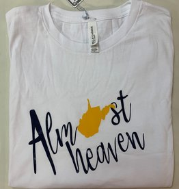 Positive-a-tees Positive-a-tees Almost Heaven LS White Lg