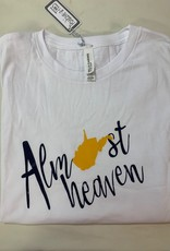 Positive-a-tees Positive-a-tees Almost Heaven LS White Sm