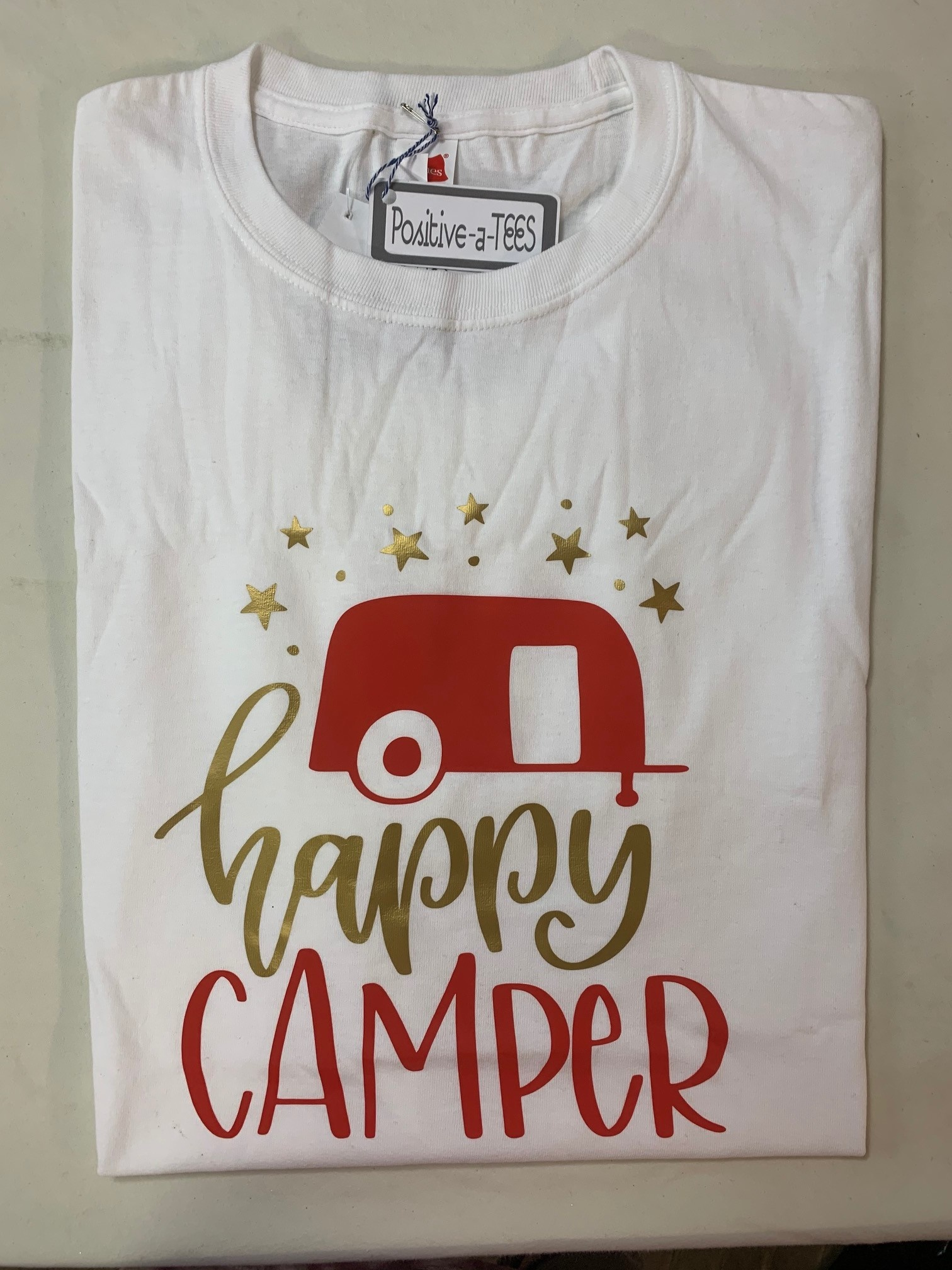 Positive-a-tees Positive-a-tees Happy Camper XL