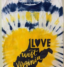 Positive-a-tees Positive-a-tees Love WV, Tie-Dye LS XL