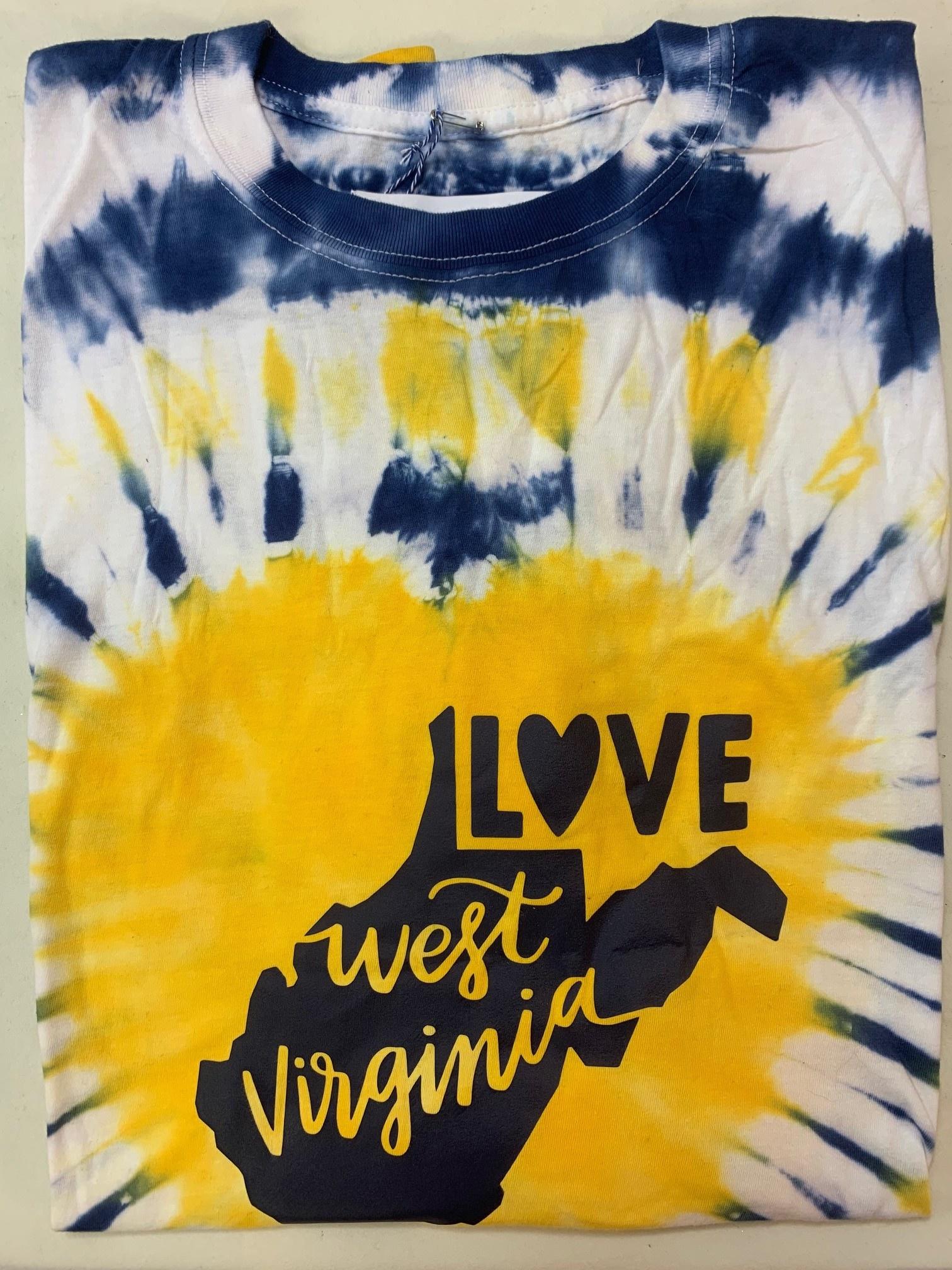 Positive-a-tees Positive-a-tees Love WV, Tie-Dye LS XL