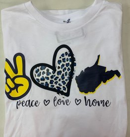 Positive-a-tees Positive-a-tees Peace Love Home LS Lg