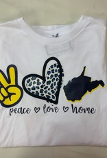 Positive-a-tees Positive-a-tees Peace Love Home LS Sm
