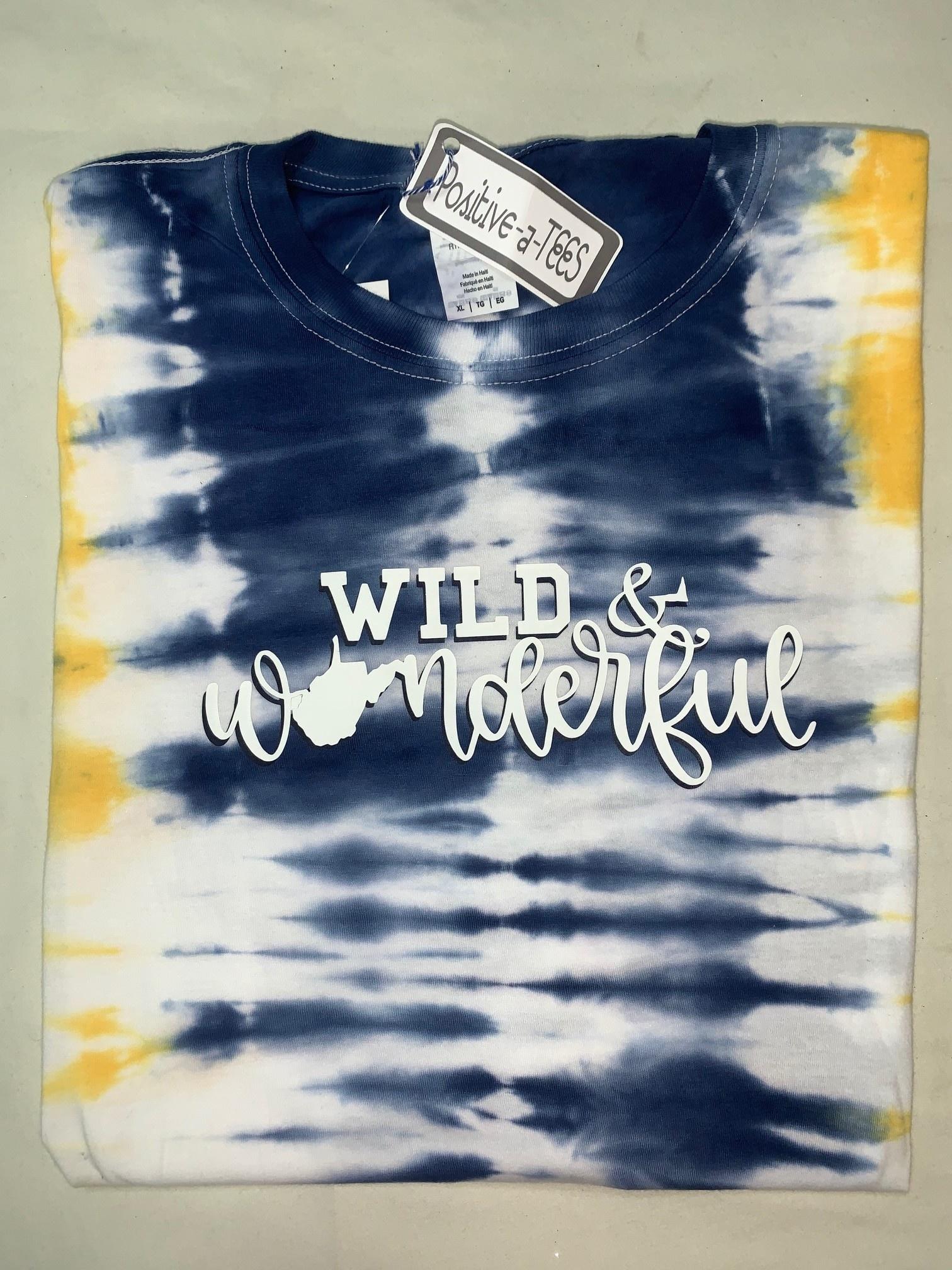 Positive-a-tees Positive-a-tees Wild & Wonderful Tie-Dye Md