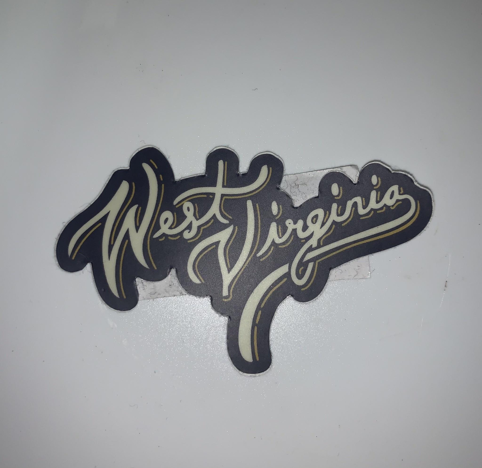 Loving WV WV Script Sticker