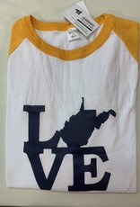 Positive-a-tees Positive-a-tees Love WV baseball XL