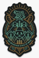 Loving WV Mountain State of Mind Sticker