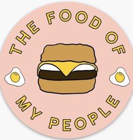 Loving WV Food of My People -Tudor Sticker