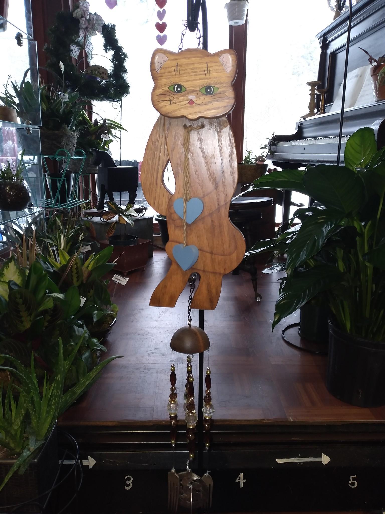 Hidden Treasures Hidden Treasures Wooden Cat Chime