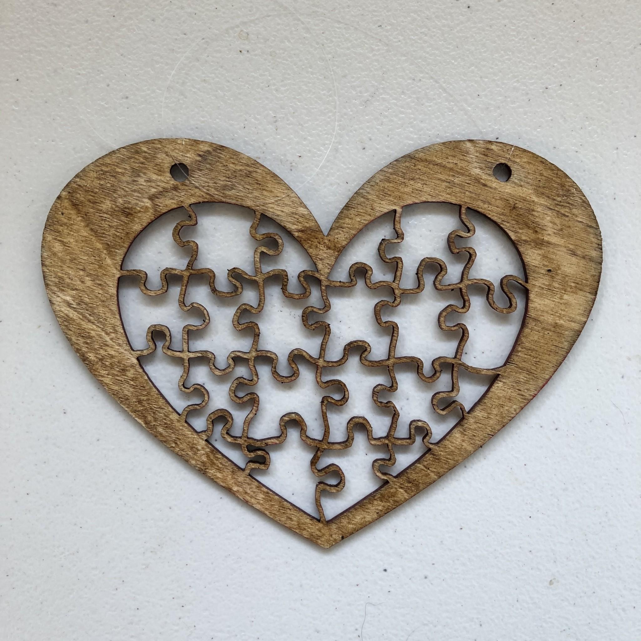 Davisyard Heart Puzzle Mobile (No Pieces)