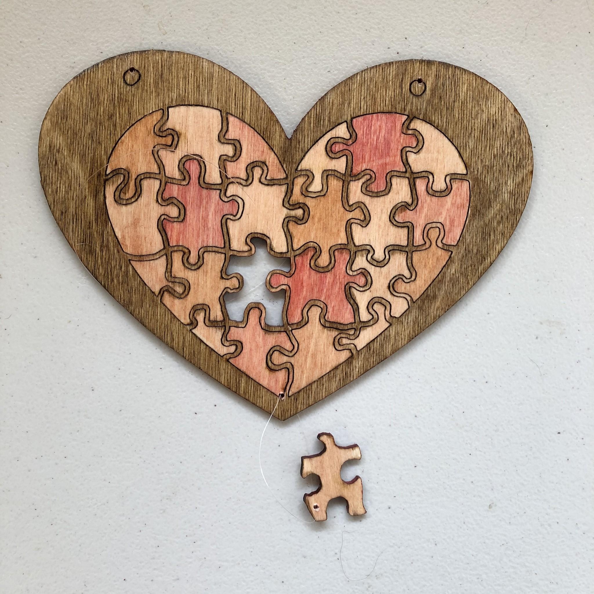 Davisyard Heart Puzzle Mobile ( Hanging Pieces )