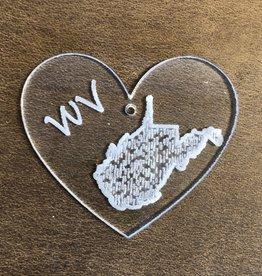 Davisyard WV Hearts Acrylic