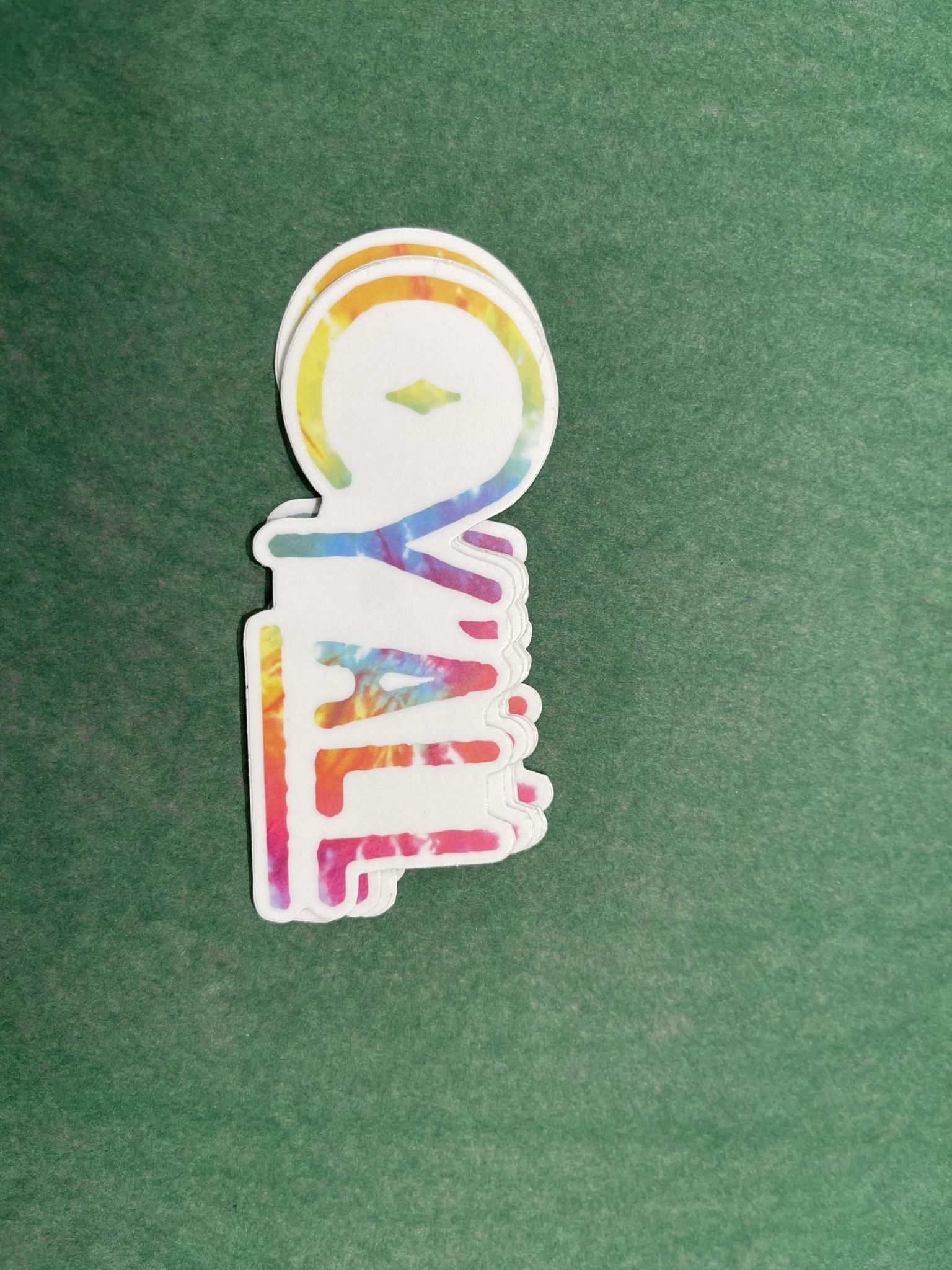 The Hippie's Daughter Tie Dye Y'all Sticker