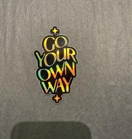 The Hippie's Daughter Go Your Own Way Sticker