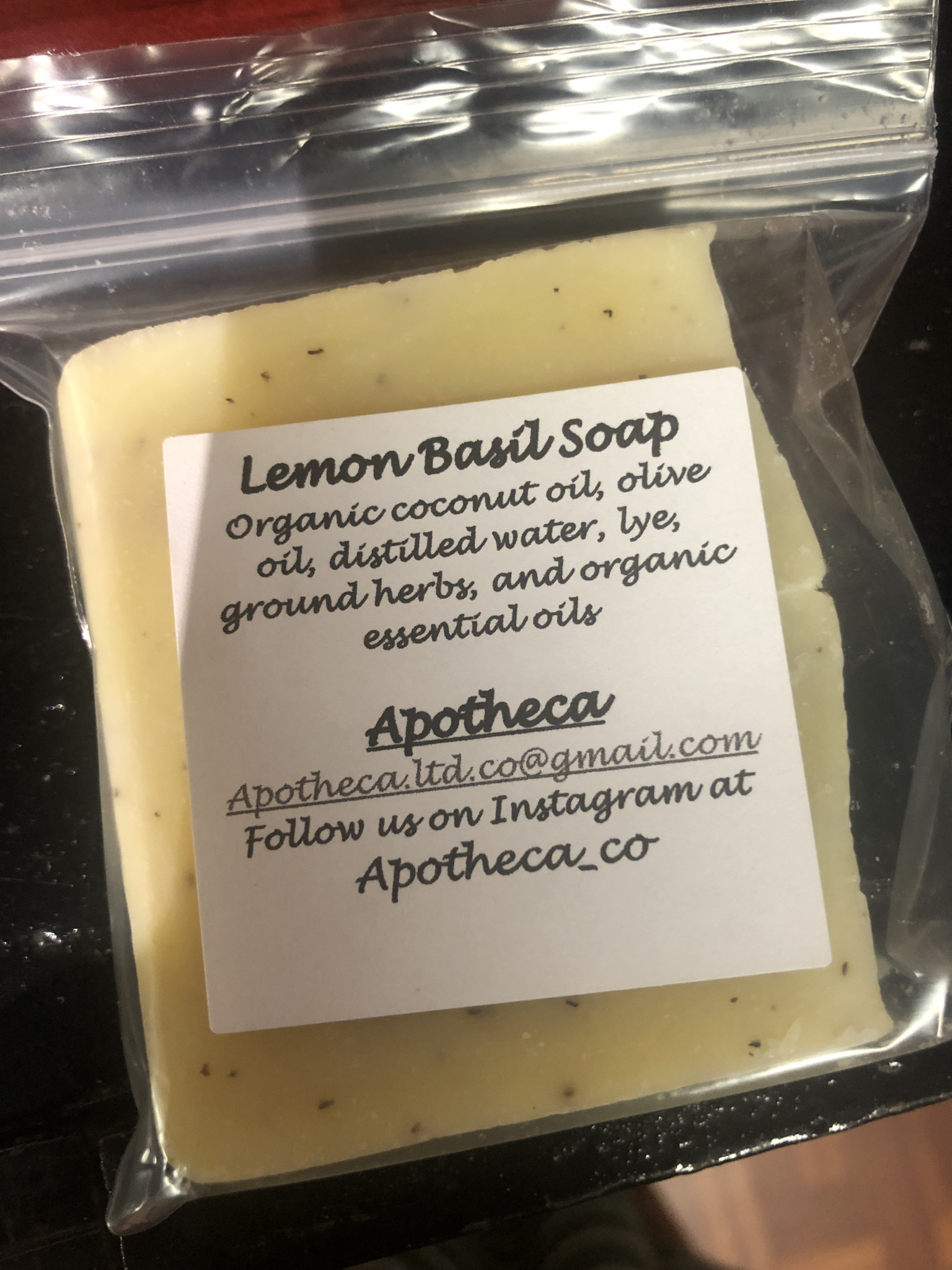 Apotheca Apotheca Lemon Basil Soap