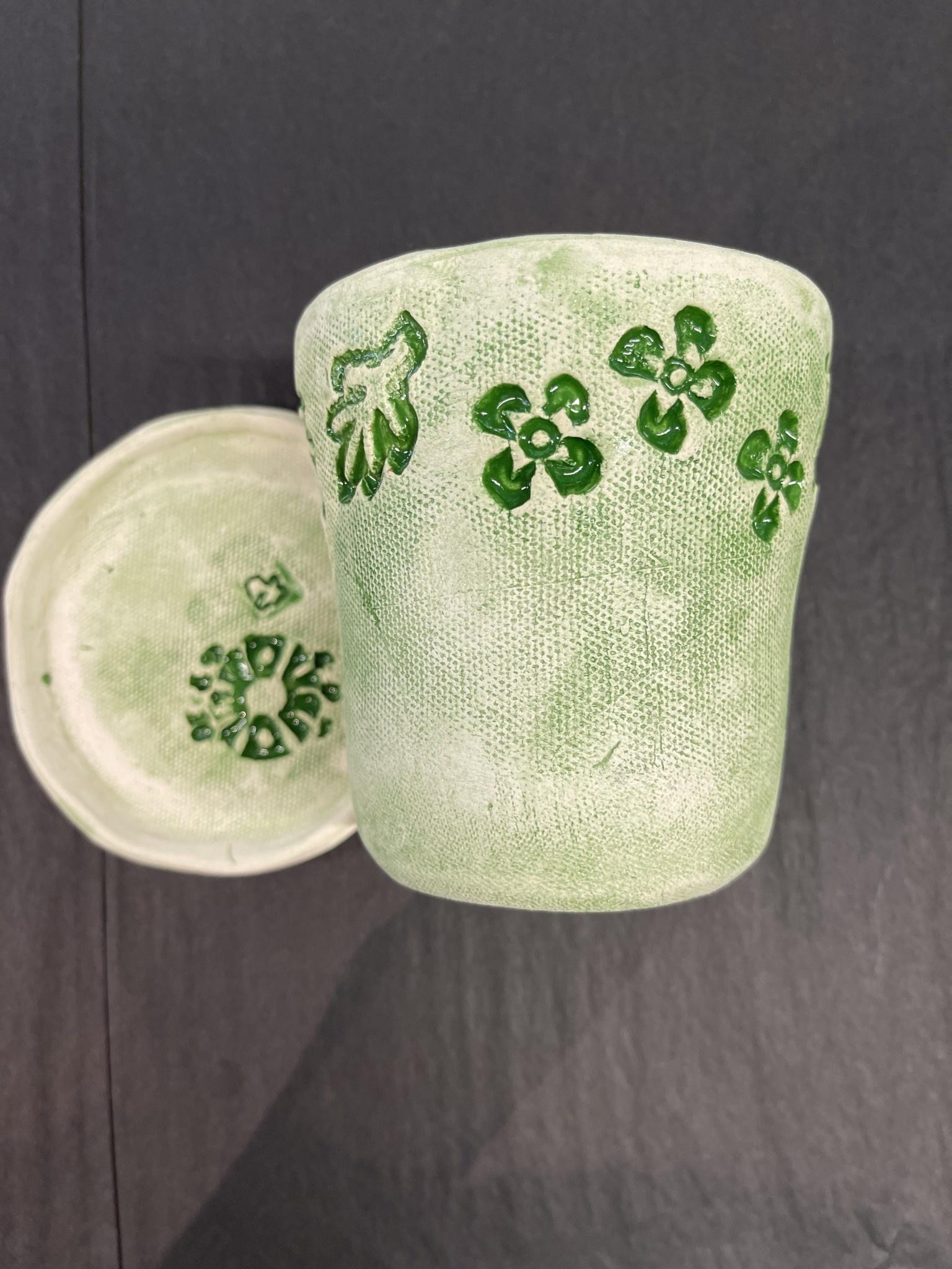 Nanette green planter