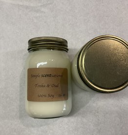 Simple Scentsation Tonka & Oud16 oz. Soy Candle