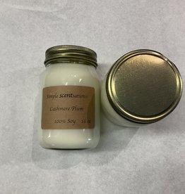 Simple Scentsation Cashmere Plum 16 oz. Soy Candle