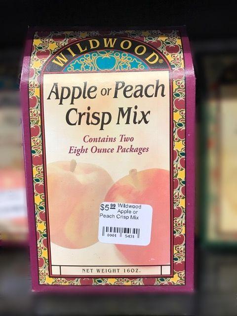Wildwood Apple or Peach Crisp Mix