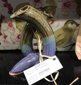 Randy Selbe Artisan Randy Selbe Bud Vase Hollow Rings
