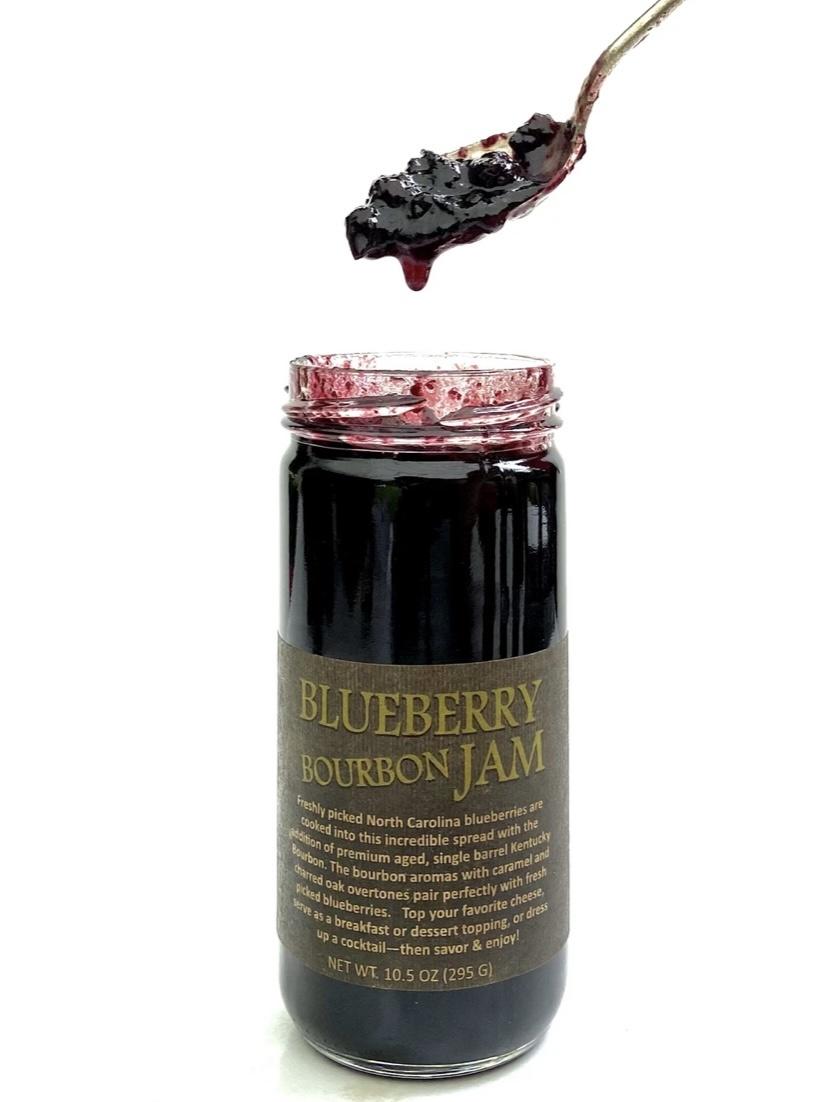 Copper Pot  & Wooden Spoon BlueBerry Bourbon Jam
