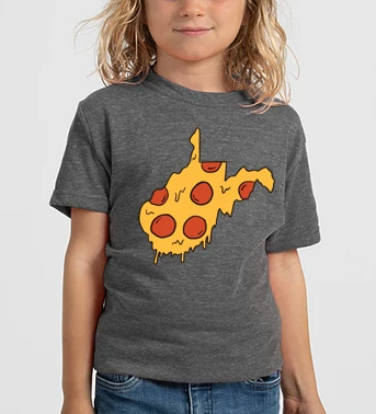 Loving WV WV Pizza Youth Tee XL
