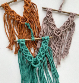 The Hippie's Daughter Ashley Mini Macrame Wall Hanging