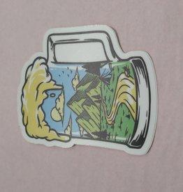 Wild & Wonderful Lifestyle Company Beer Mug Sticker