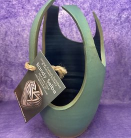 Randy Selbe Artisan Randy Selbe Modern Vase w/ Oval Cut Outs