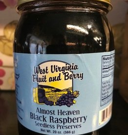 West Virginia Fruit and Berry WVF&B 20 oz. Black Raspberry Seedless Preserves