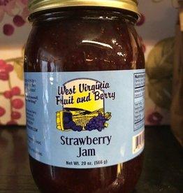 West Virginia Fruit and Berry WVF&B 20 oz. Strawberry Jam